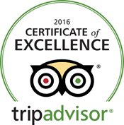 Trip Advisor Seal of Excellence 2016